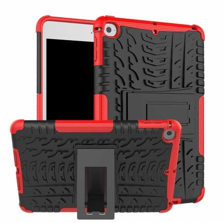 For iPad Mini 5 ShockProof Case Rugged Armor Cover - Red