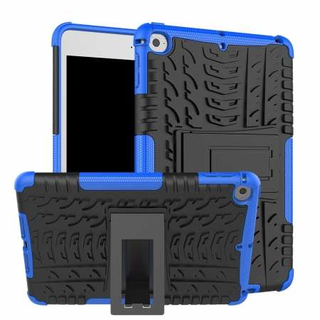 For iPad Mini 5 Tough Armor Case Rugged ShockProof Cover - Blue