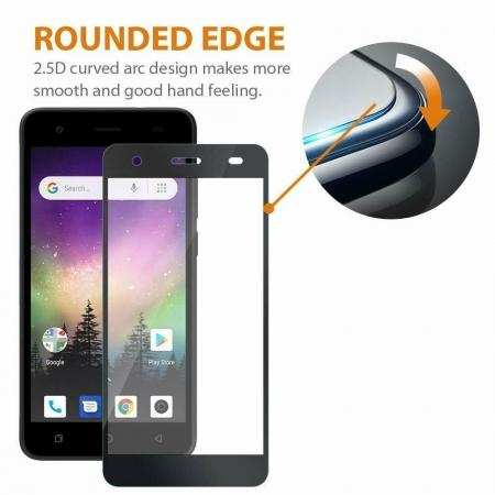For Coolpad Legacy 3D Full Clear View Tempered Glass Screen Protector Film Black