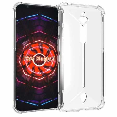 For Nubia Red Magic 3  Case Soft TPU Crystal Transparent Slim Anti Slip Full-Body Phone Cover