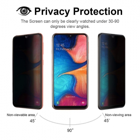 For Samsung Galaxy A20e Privacy Anti-Spy Tempered Glass Screen Protector