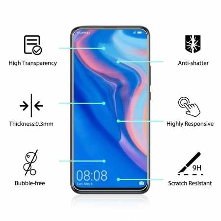 2-Pack For Huawei Y9 Prime 2019 Tempered Glass Screen Protector Clear