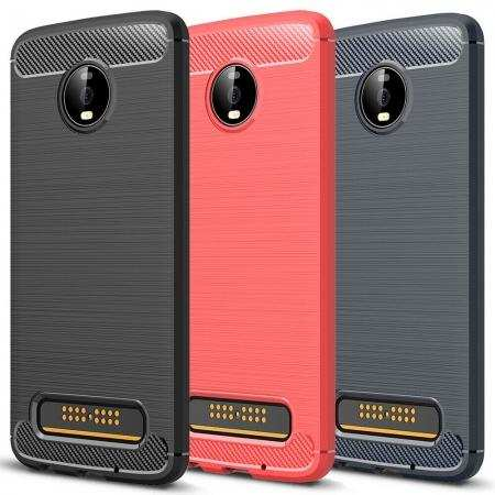 For Motorola Moto Z4 Case Shockproof Soft TPU Phone Cover
