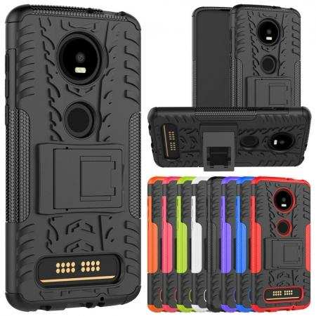For Motorola Moto Z4 Case Hybrid Shockproof Rugged Armor Stand Phone Cover
