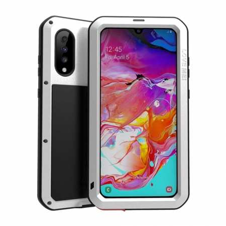 For Samsung Galaxy A70 Metal Aluminum Case Gorilla Waterproof Cover White