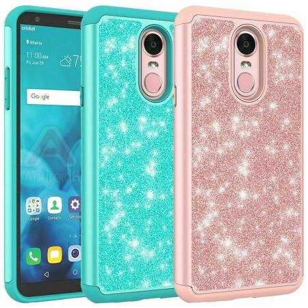 For LG Stylo 5 / 5 Plus Case Glitter Hybrid Armor Shockproof Phone Cover