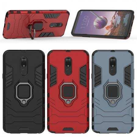 For LG Stylo 5 Case Shockproof Hybrid Armor Ring Holder Stand Cover