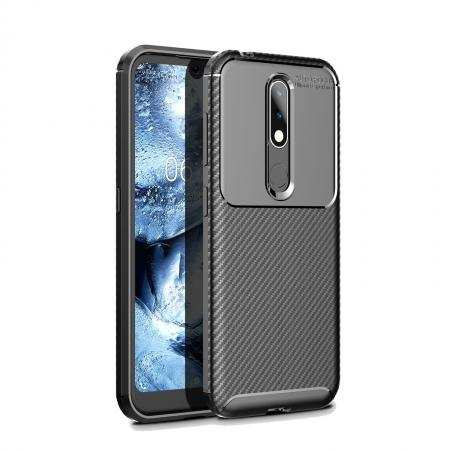 For Nokia 4.2 Shockproof Armor Carbon Fiber Hybrid Soft Case Cover