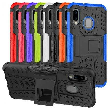 For Samsung Galaxy A10e Case Hybrid Armor Shockproof Kickstand Cover