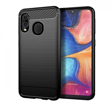 For Samsung Galaxy A10e Case Ultra Slim Shockproof Carbon Fibre Gel Cover