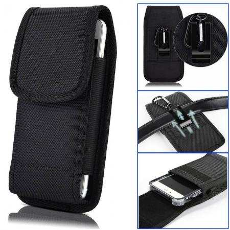 For Samsung Galaxy A10e - Horizontal Carrying Vertical Pouch Case Cover With Belt Clip Holster