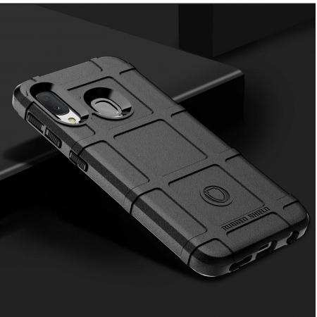 For Samsung Galaxy A10e, Shockproof Rugged Shield Armor Soft Rubber Case Cover