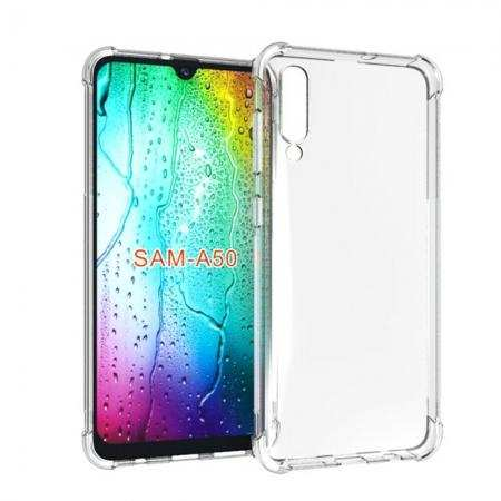 For Samsung Galaxy A50 Shockproof Rubber Clear Slim Soft Shell Case Cover