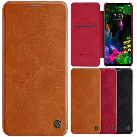 NILLKIN Qin Leather Wallet Flip Shockproof Case Cover For LG G8 ThinQ