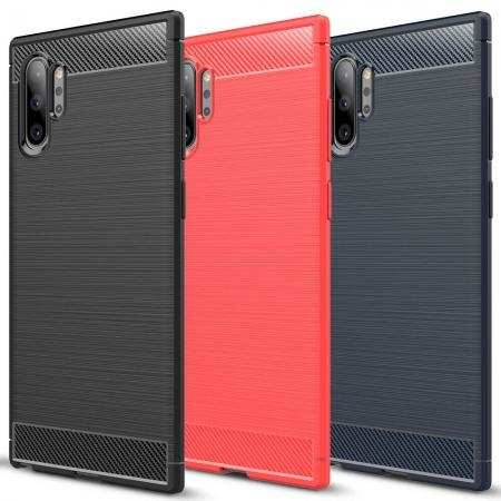 For Samsung Galaxy Note 10 / 10+ Plus Shockproof Case Carbon Fiber Soft TPU Cover
