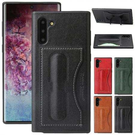 For Samsung Galaxy Note 10 Plus Leather Wallet Card Pocket Stand Back Case Cover
