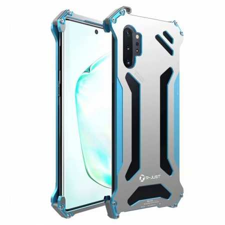 For Samsung Galaxy S10 Plus S20 Plus Ultra Note+ 10 5G Case R-Just Aluminum Metal Shockproof Cover