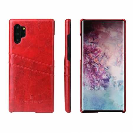 For Samsung Galaxy Note 10 Pro Oil Wax Leather Back Case Cover - Red