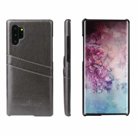 For Samsung Galaxy Note 10 Pro Oil Wax Leather Back Case Cover - Dark Grey