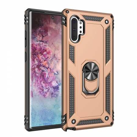 For Samsung Galaxy Note10 ShockProof Armor Magnetic Stand Case Cover - Gold