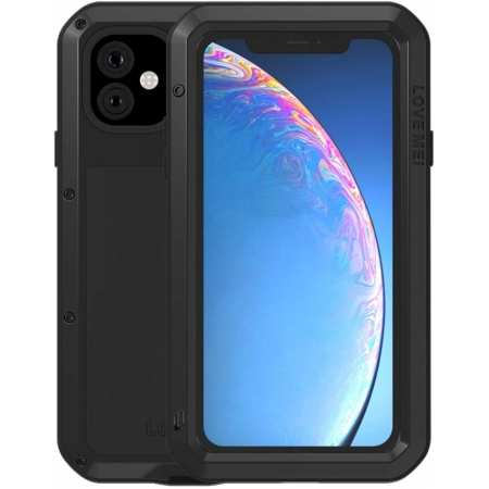 Waterproof Shockproof Metal Aluminum Gorilla Case for  iPhone 11 / 11 Pro Max - Black