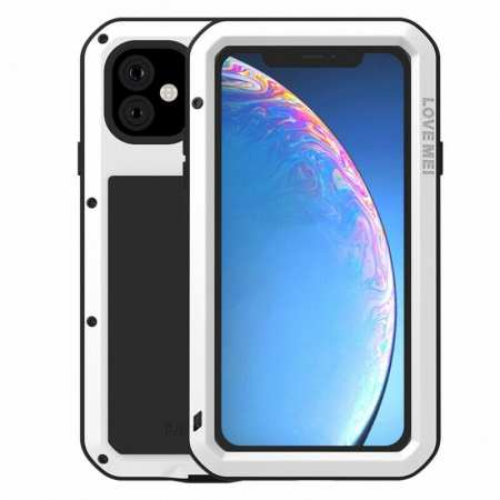 Waterproof Shockproof Metal Aluminum Gorilla Case for  iPhone 11 / 11 Pro Max - White