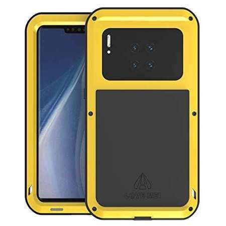 For Huawei Mate 30 Pro LOVE MEI Waterproof Aluminium Alloy Metal Case Cover - Yellow