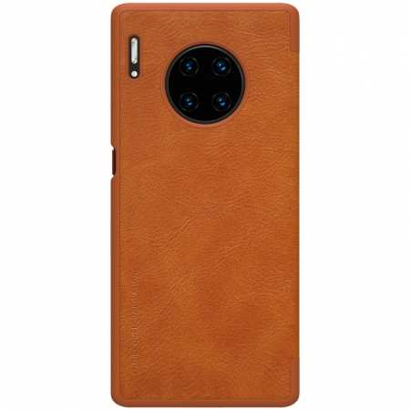 For Huawei Mate 30 Pro Nillkin Qin Leather Card Slot Flip Case Cover - Brown