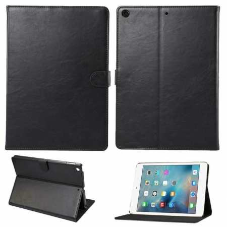 For iPad 10.2 2019 7th Gen Magnetic Wallet Card Smart Leather Stand Case Cover - Black
