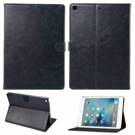 For iPad 10.2 2019 7th Gen Magnetic Wallet Card Smart Leather Stand Case Cover - Navy Blue