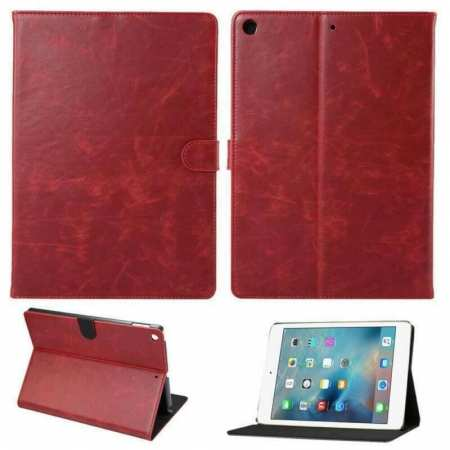 For iPad 10.2 2019 7th Gen Magnetic Wallet Card Smart Leather Stand Case Cover - Wine Red