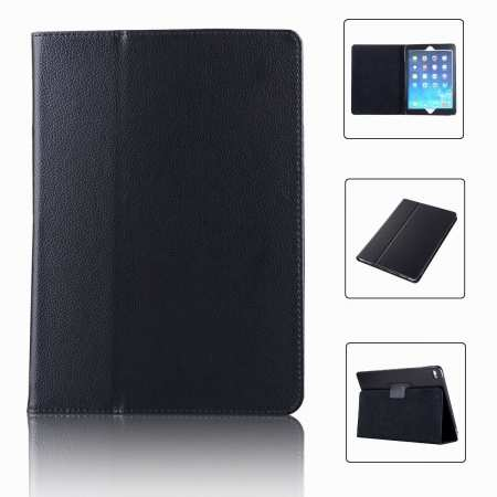 "For iPad 7th Gen 2019 10.2"" Stand Folio PU Leather Smart Case Cover - Black"