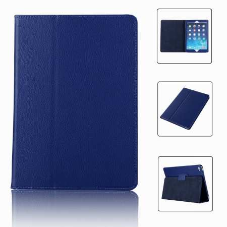 "For iPad 7th Gen 2019 10.2"" Stand Folio PU Leather Smart Case Cover - Blue"