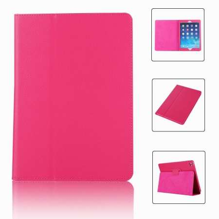 "For iPad 7th Gen 2019 10.2"" Stand Folio PU Leather Smart Case Cover - Hot Pink"