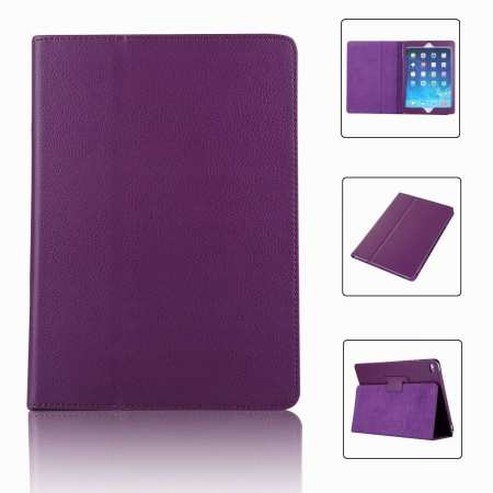 "For iPad 7th Gen 2019 10.2"" Stand Folio PU Leather Smart Case Cover - Purple"
