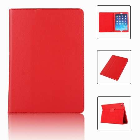 "For iPad 7th Gen 2019 10.2"" Stand Folio PU Leather Smart Case Cover - Red"