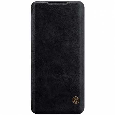 For OnePlus 7T Pro Nillkin Qin Leather Card Slot Flip Case Cover - Black