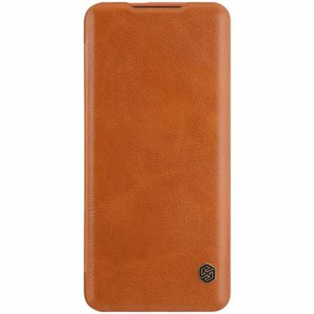 For OnePlus 7T Pro Nillkin Qin Leather Card Slot Flip Case Cover - Brown