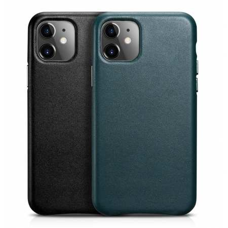ICARER Real Genuine Leather Protective Back Case Cover For iPhone 11 Pro Max