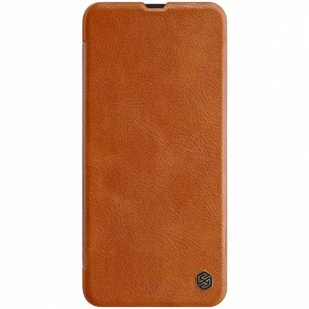 Nillkin Qin Series Flip Leather Card Slot Case Cover For Samsung Galaxy A70S - Brown