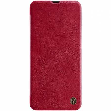 Nillkin Qin Series Flip Leather Card Slot Case Cover For Samsung Galaxy A70S - Red