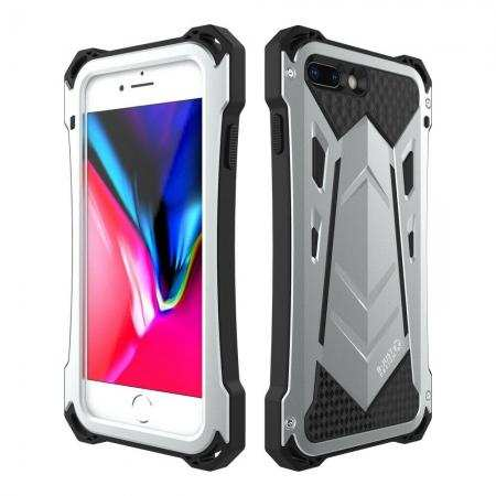 R-Just For iPhone 11 Pro Max Armor Metal Shockproof Rubber Aluminum Case Cover
