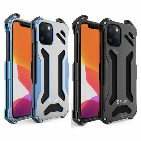 R-JUST Gundam Shockproof Aluminum Armor Metal Case Cover For iPhone 11 Pro Max