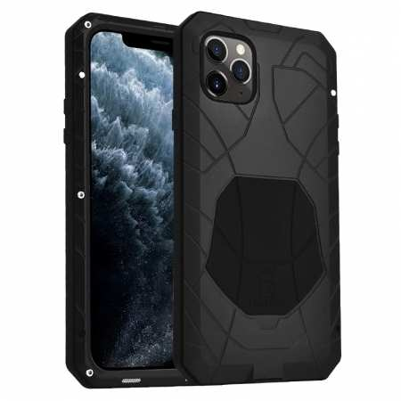 Shockproof Metal Case Aluminum Cover for iPhone 11 Pro Max - Black