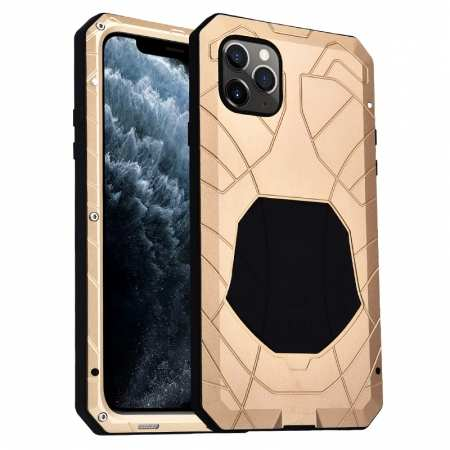 Shockproof Metal Case Aluminum Cover for iPhone 11 Pro Max - Gold