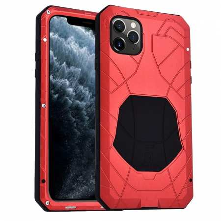 Shockproof Metal Case Aluminum Cover for iPhone 11 Pro Max - Red