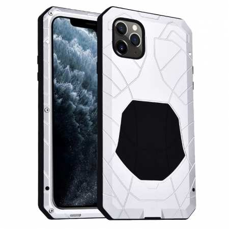 Shockproof Metal Case Aluminum Cover for iPhone 11 Pro Max - White