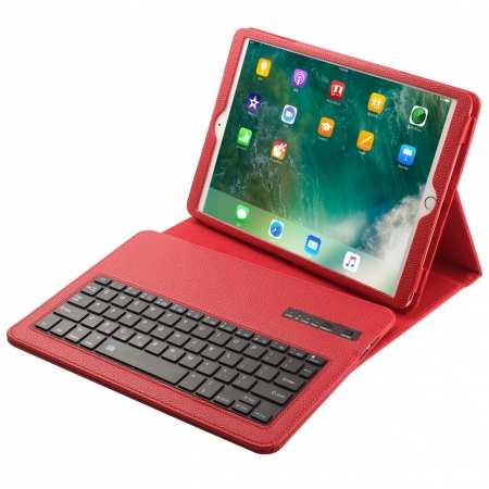 "Detachable Bluetooth Keyboard Leather Case Cover For Apple iPad 10.2"" 7th Gen - Red"