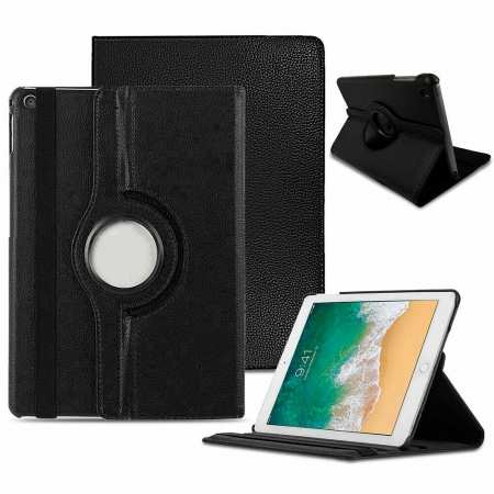 "For 2019 iPad 10.2"" 7th Generation Case 360° Rotating PU Leather Magnetic Smart Stand Cover - Black"