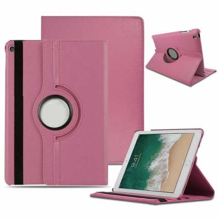 For iPad 10.2 7th Gen 2019 Case 360 Rotating Stand Smart Cover - Pink
